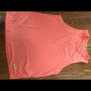 Orange Nike Workout Tank Top
